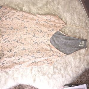 Pink, Lace Tank Top